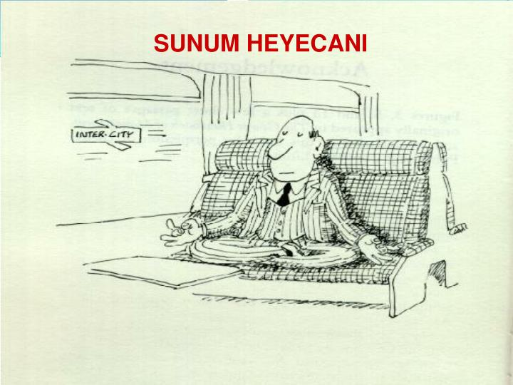 SUNUM HEYECANI