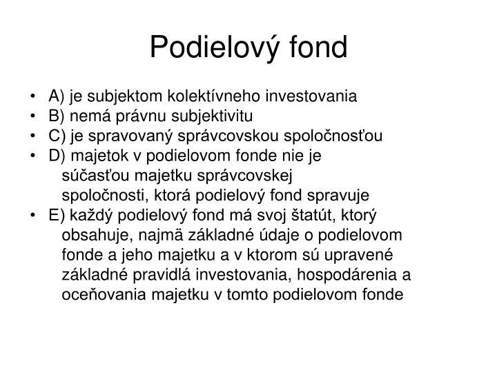 Podielový fond