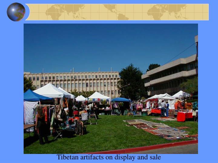 Tibetan artifacts on display and sale