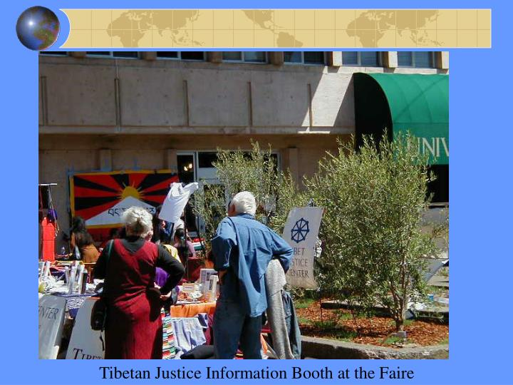 Tibetan Justice Information Booth at the Faire