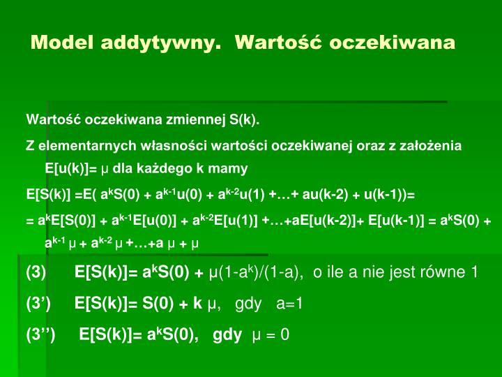 Model addytywny