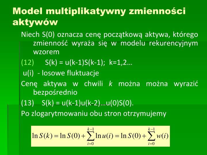 Model multiplikatywny