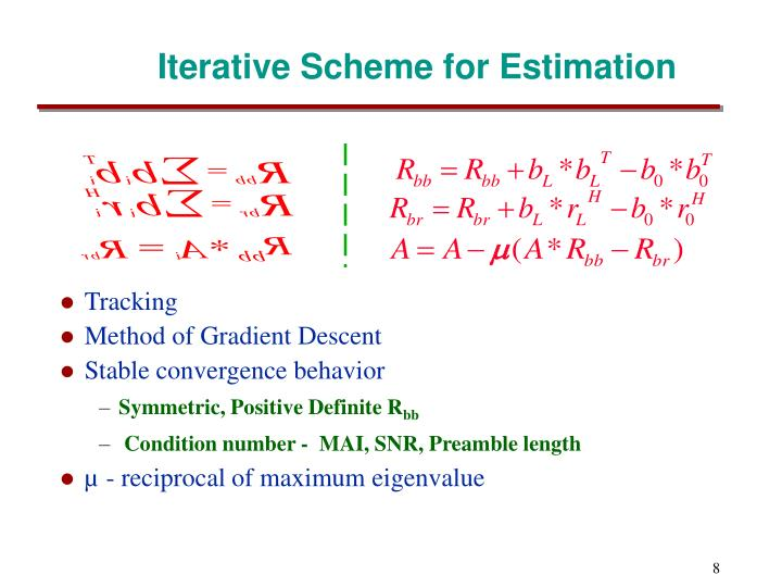 Iterative Scheme for Estimation