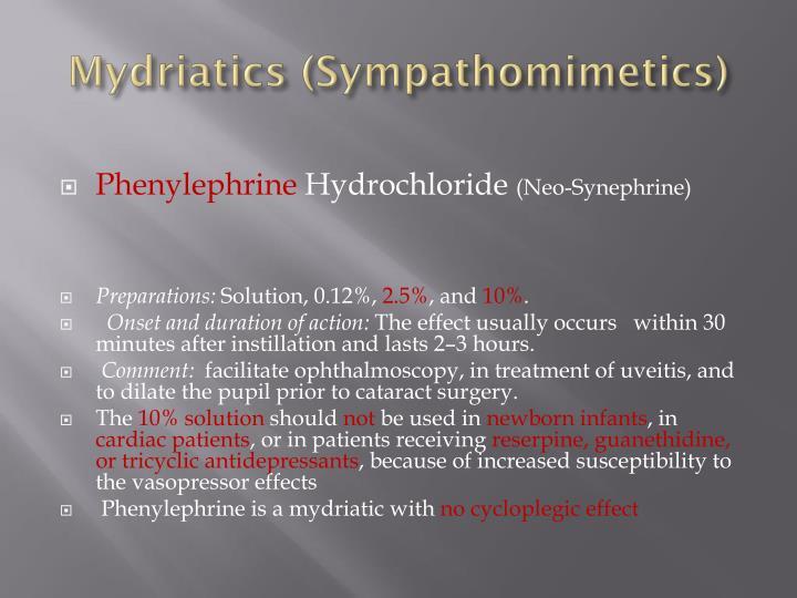 Mydriatics
