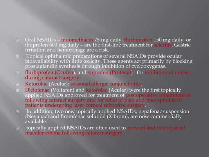 Oral NSAIDs—