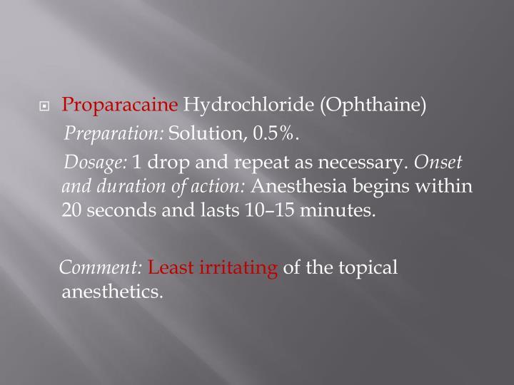 Proparacaine