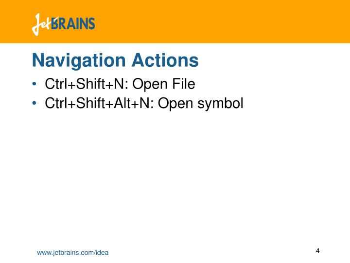 Navigation Actions
