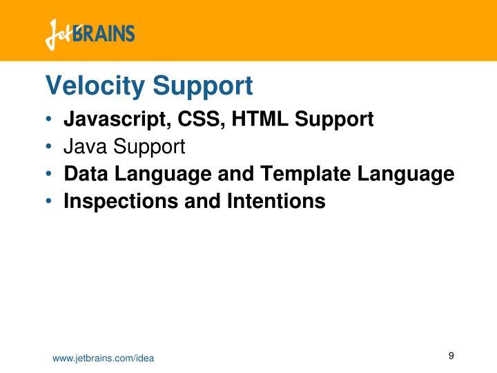 Velocity Support