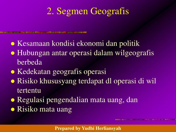 2. Segmen Geografis