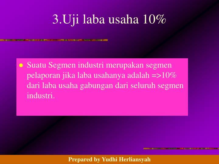 3.Uji laba usaha 10%