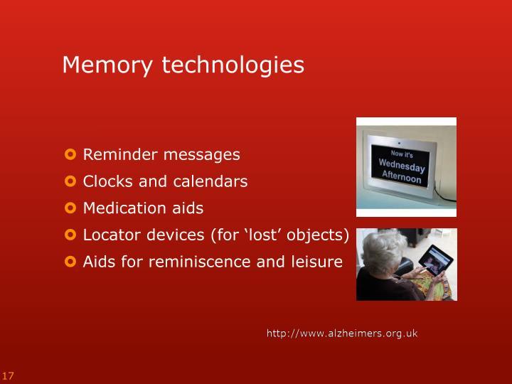 Memory technologies