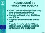 komisioner t e prokurimit publik i