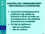 kontrollimi i amendamentimit p rformanca e kontrat s