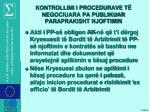 kontrollimi i procedurave t negociuara pa publikuar paraprakisht njoftimin