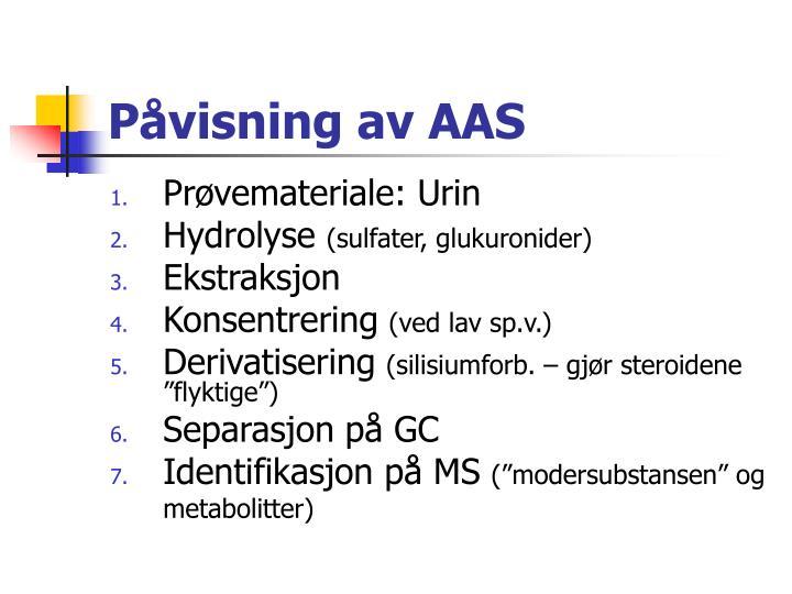 Påvisning av AAS
