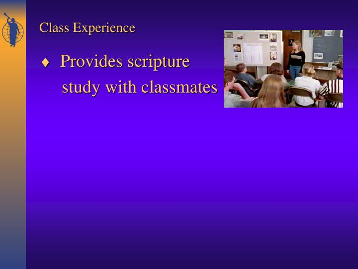 Provides scripture