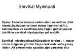 servikal myelopati