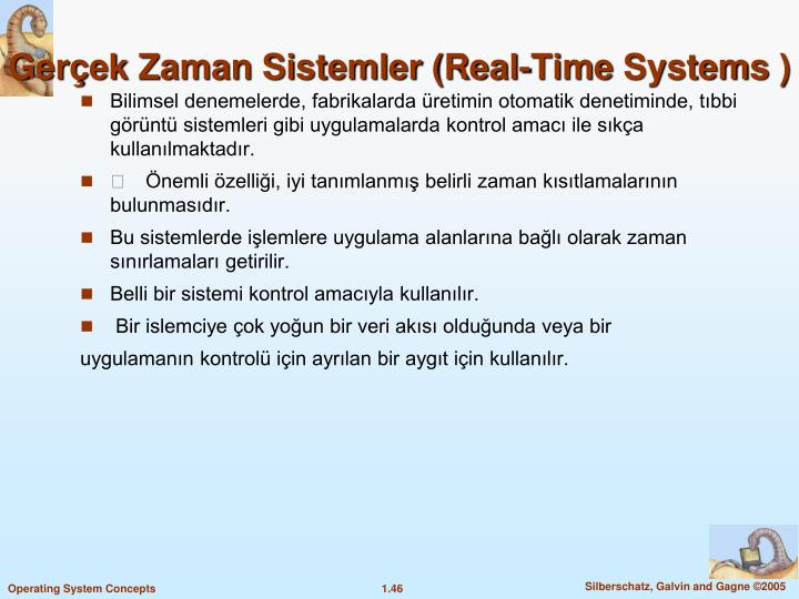 Gerek Zaman Sistemler (Real-Time