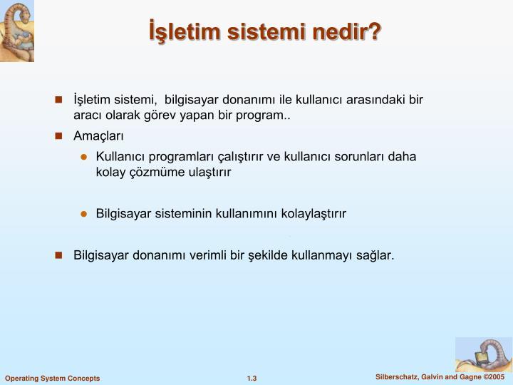 İşletim sistemi nedir