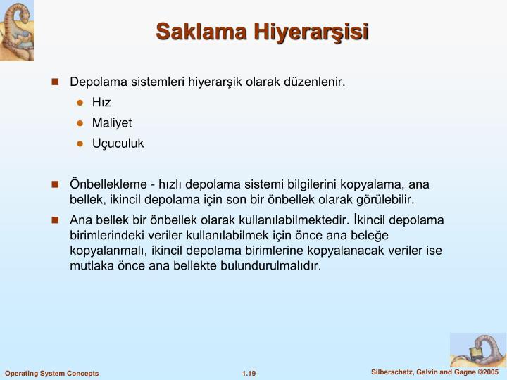 Saklama Hiyerarisi