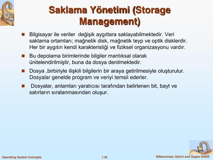 Saklama Yönetimi (