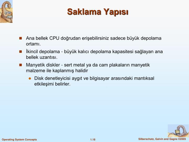Saklama Yaps