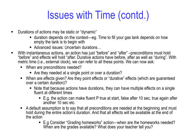 Issues with Time (contd.)