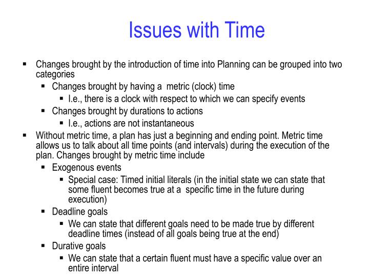 Issues with time