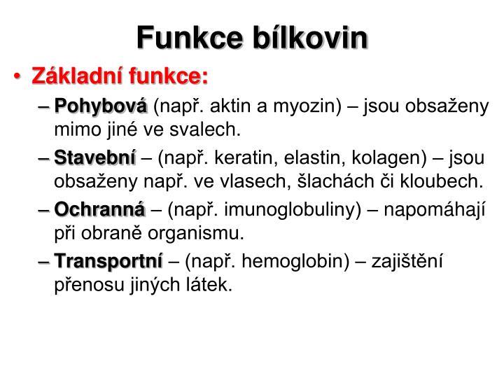 Funkce bílkovin