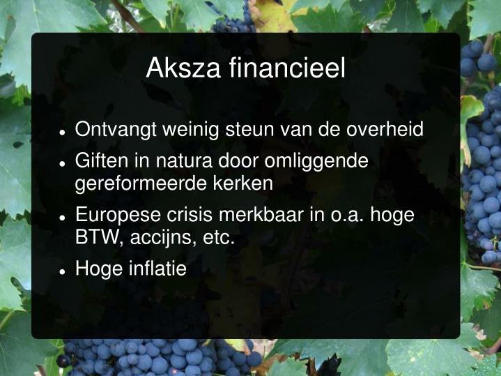 Aksza financieel