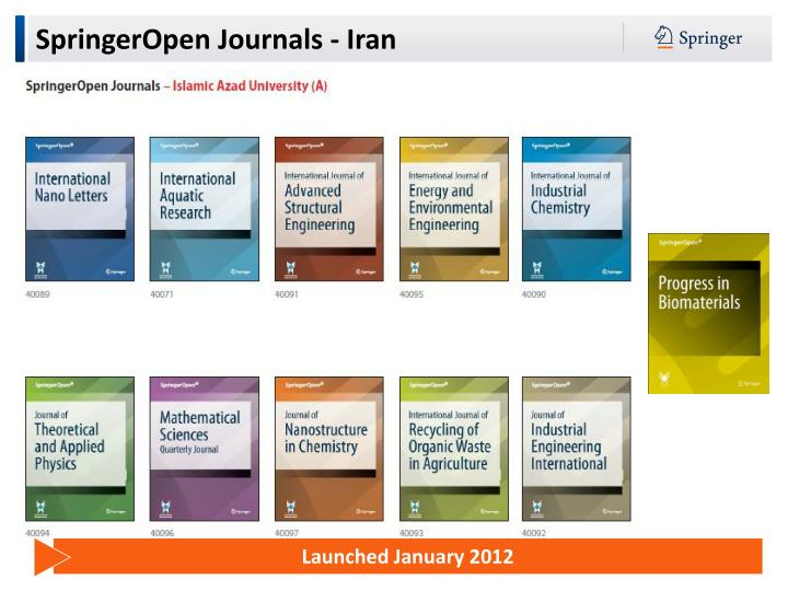 SpringerOpen Journals - Iran