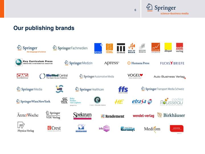 Our publishing brands
