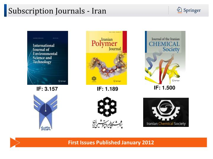 Subscription Journals - Iran