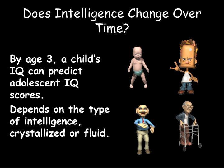 By age 3, a child's IQ can predict adolescent IQ scores.