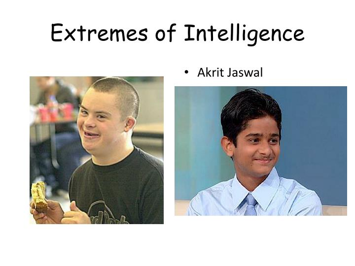 Extremes of Intelligence