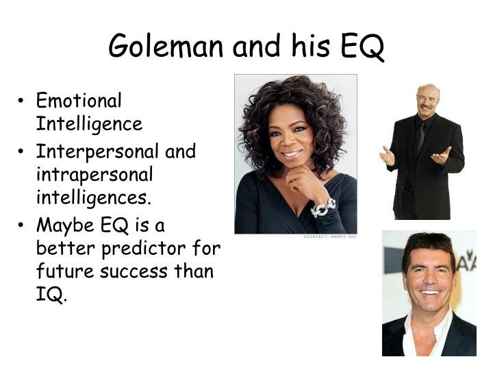 Goleman and his EQ
