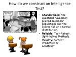 how do we construct an intelligence test