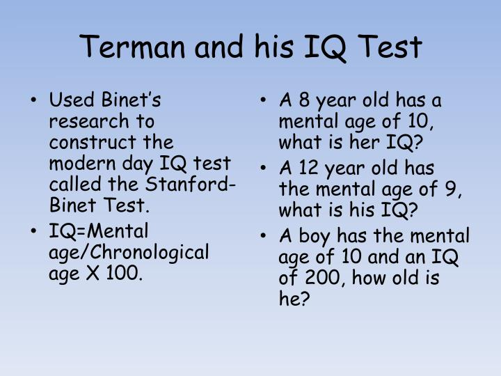 Terman and his IQ Test