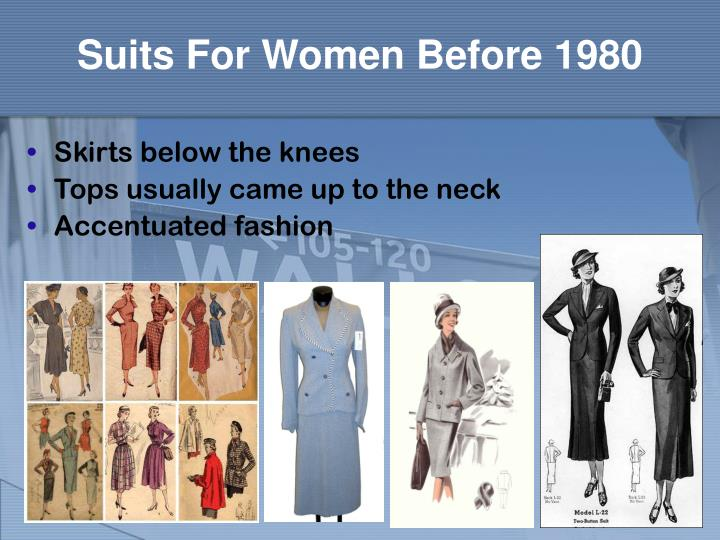 Suits for women before 1980