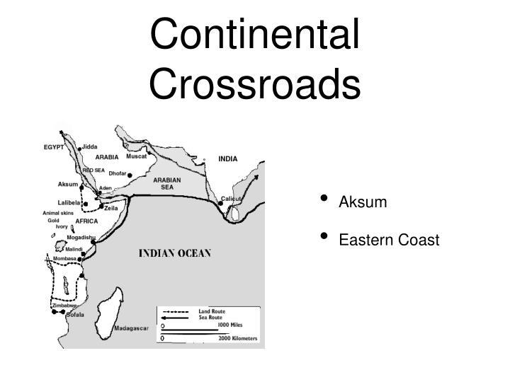 Continental Crossroads