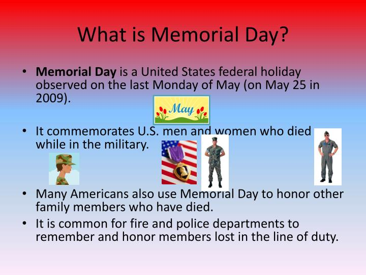 What is memorial day