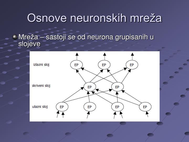 Osnove neuronskih mreža