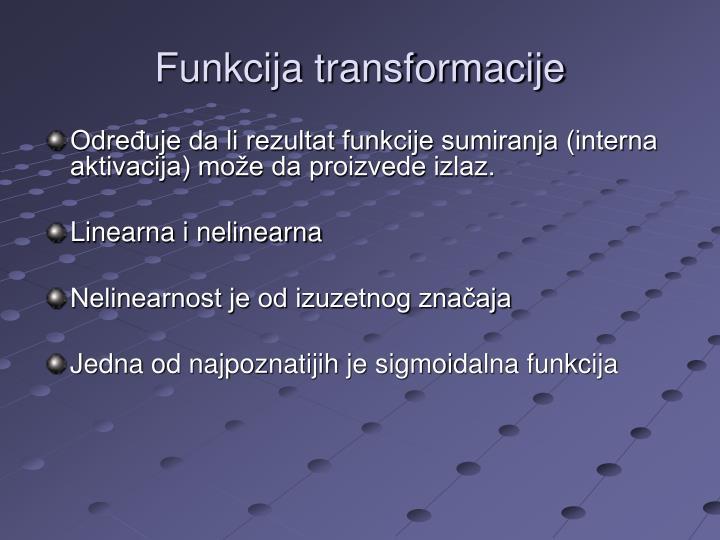 Funkcija transformacije