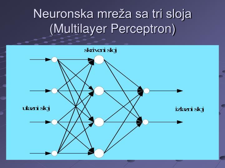 Neuronska mreža sa tri sloja
