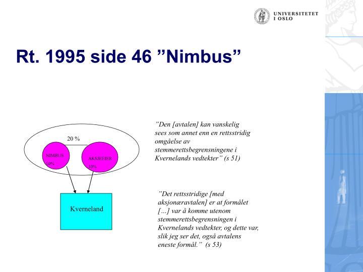 """Rt. 1995 side 46 """"Nimbus"""""""