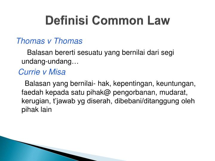 Definisi common law