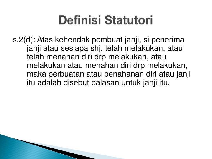 Definisi Statutori