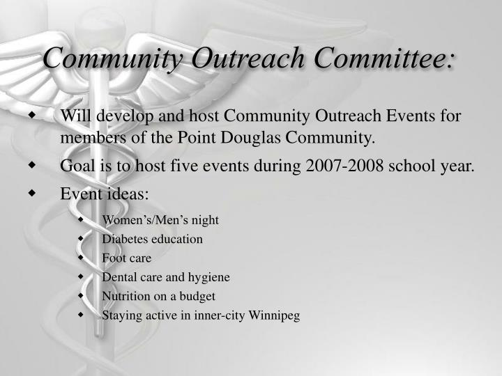 Community Outreach Committee: