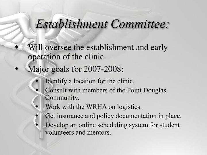 Establishment Committee:
