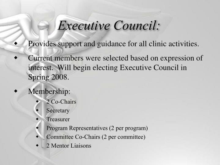 Executive Council:
